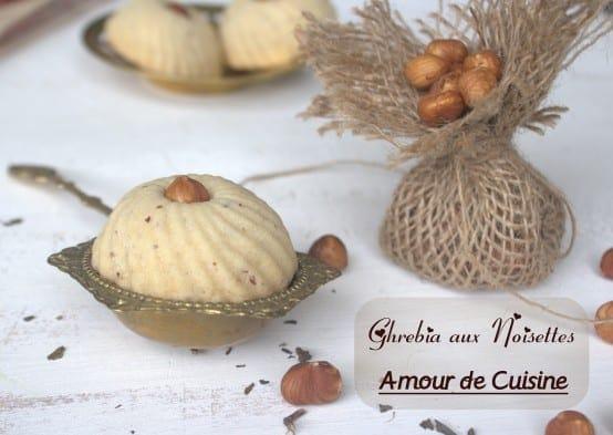 Ghribia aux noisettes gateau sec algerien amour de cuisine for Amour de cuisine arabe
