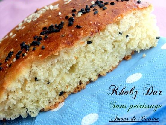 khobz dar, pain maison sans petrissage 003