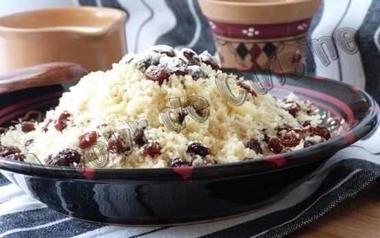 mesfouf aux raisins secs, cuisine algerienne