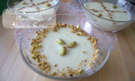Mhalbi constantinois: creme dessert au riz en video