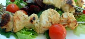 brochettes de poulet tikka massala, brochettes au four