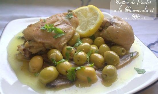 tajine de poulet a la chermoula et aux olives en video