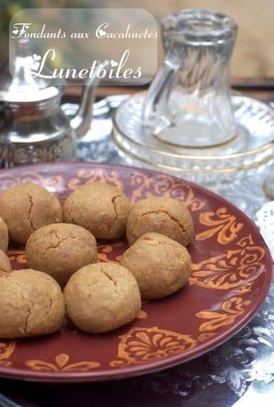 Fondants aux cacahuetes