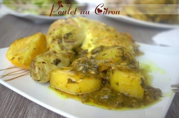 Tajine de poulet au citron confit