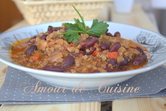 chili con carne recette facile avec viande hachee