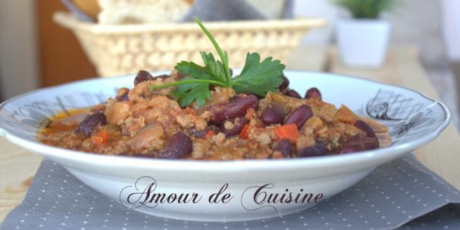 chili con carne recette facile avec viande hachée