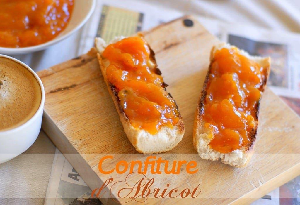 recette de la confiture d'abricots