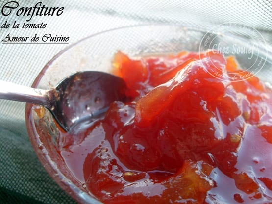 confiture tomate
