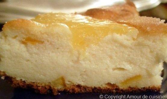 tarte ricotta ananas et aux écorces confite d'orange