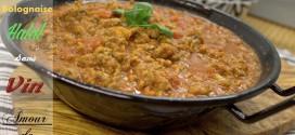 sauce bolognaise maison / halal et sans vin