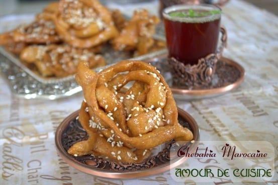 Recette de cuisine marocaine (Maroc  Maghreb) : Halwa Chebakia (gâteau au