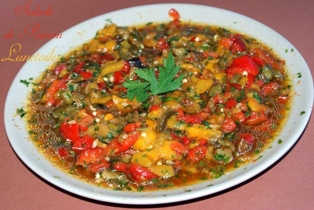salade de poivrons facile garnie au persil