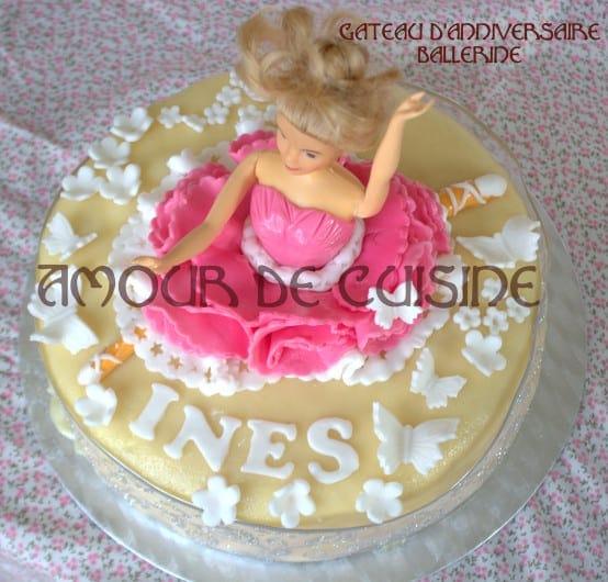 Gateau d 39 anniversaire ballerine amour de cuisine for 1 amour de cuisine