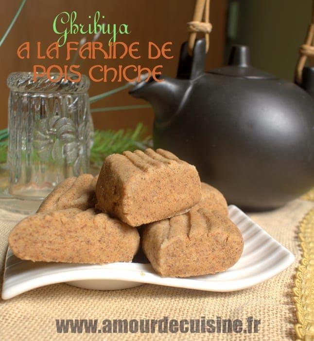recette ghribia a la farine de pois chiche gateau sec et fondant