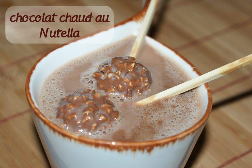 chocolat chaud au Nutella / hot chocolat