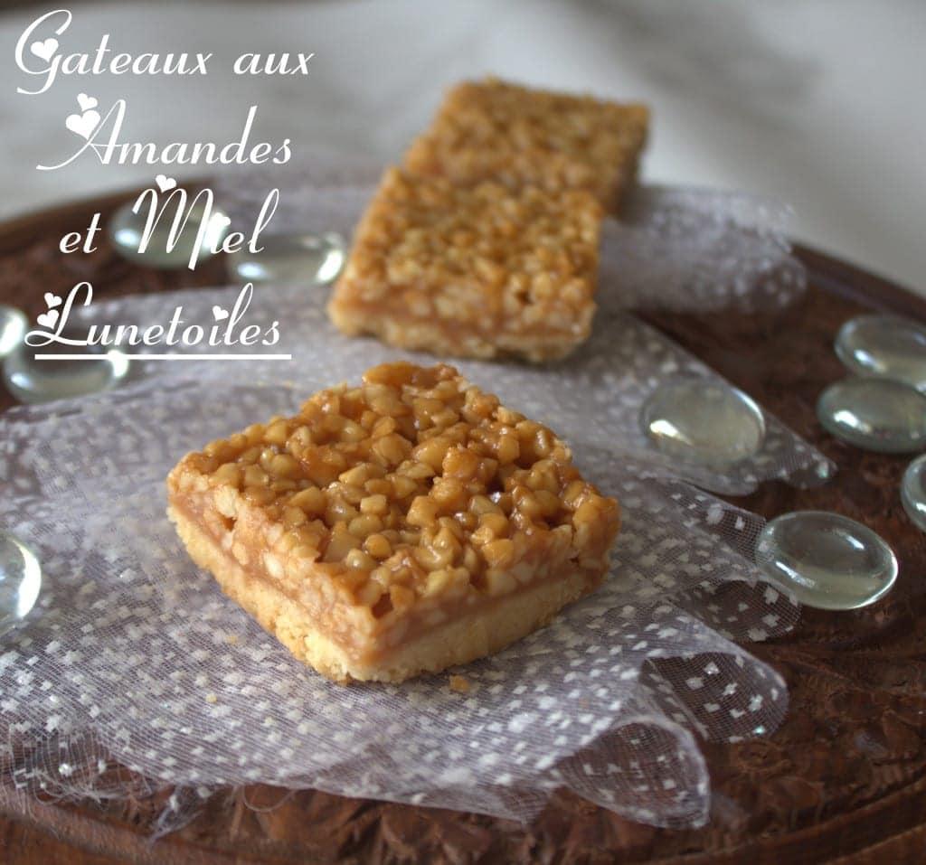 carrés aux amandes et miel