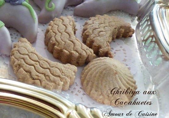 ghribia aux cacahuètes, gateau algerien / ghoriba au cacahuete