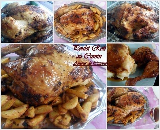 recette de poulet roti au cumin