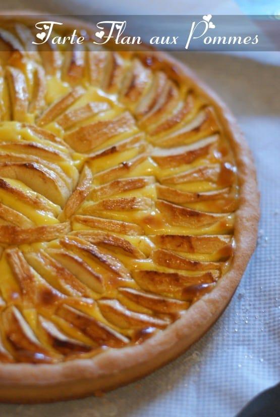 Tarte flan aux pommes amour de cuisine for 1 amour de cuisine