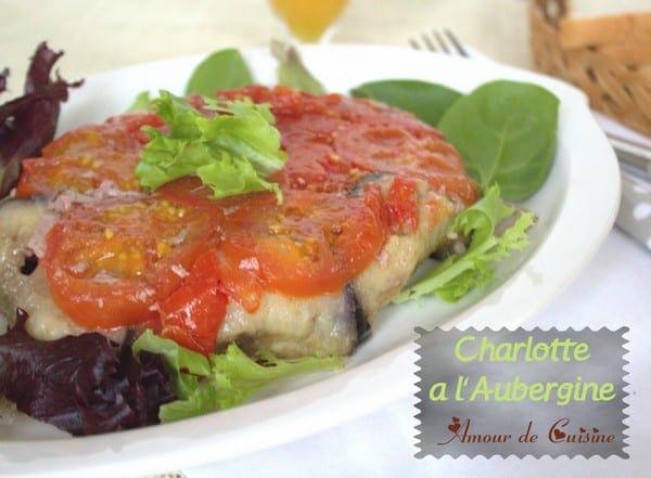 Charlotte a l 39 aubergine amour de cuisine for Amour de cuisine basboussa
