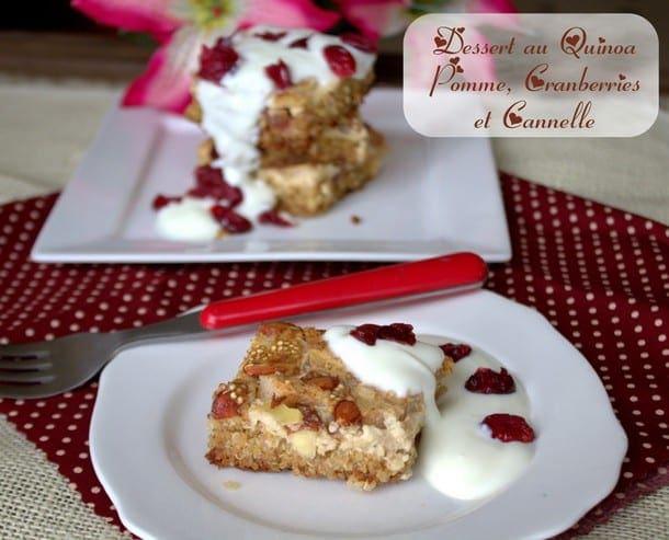 dessert au quinoa pomme et cranberries.CR2