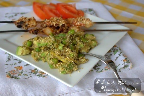 salade d'avocat quinoa et asperge