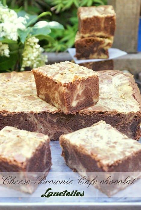 cheesebrownie cafe chocolat-cheesecake brownie