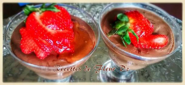 mousse aux fraises chocolat