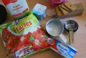 smoothies fraises cheesecake