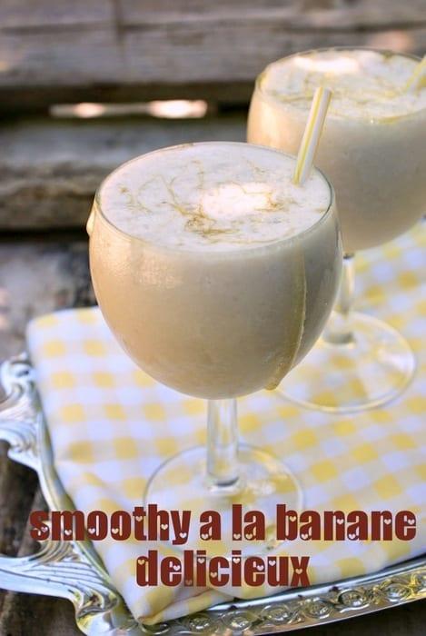 smoothy a la banane delicieux