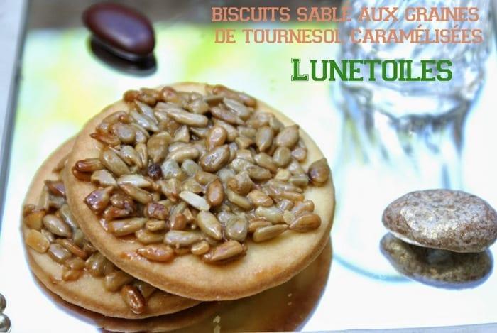 Recette biscuits sabl aux graines de tournesol caram lis es for Amour de cuisine 2014