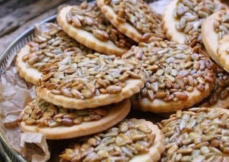 biscuits sablé aux graines de tournesol caramélisées
