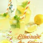 citronnade faite maison ou limonade au citron