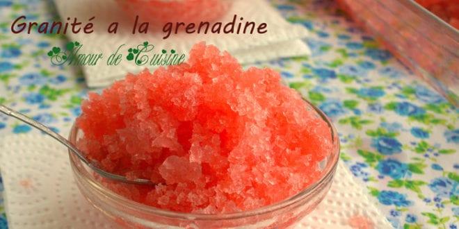 granité a la grenadine ou granité au sirop de grenadine