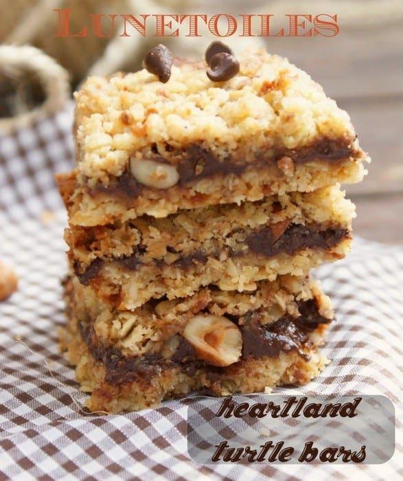 barres chocolat noisette et caramel