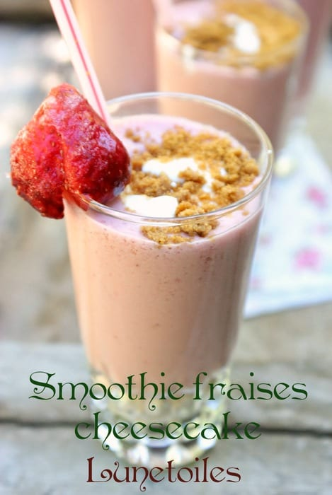 Smoothie fraises cheesecake