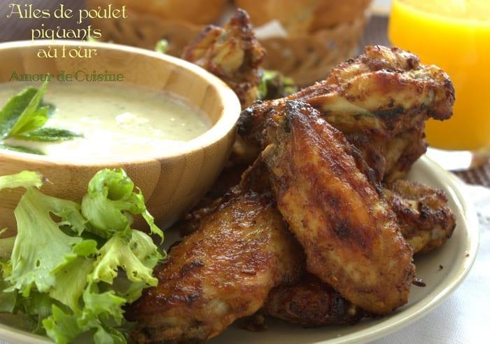 Ailes de poulet piquantes au four amour de cuisine - Cuisine poulet au four ...