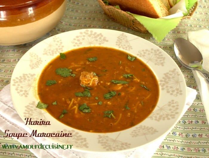 Harira marocaine amour de cuisine - Recette amour de cuisine ...