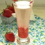 smoothie a la fraise et gelatelli