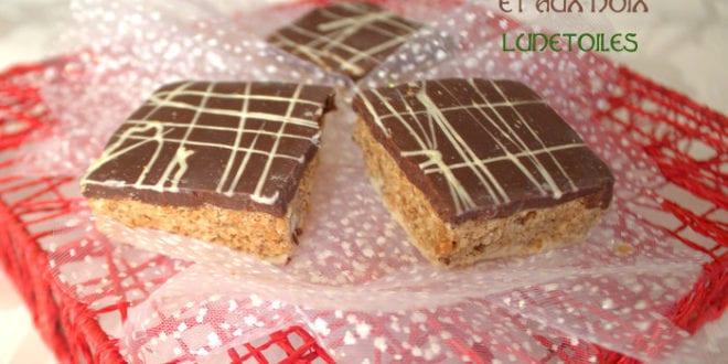 carrés au chocolat et aux noix: gateau marocain