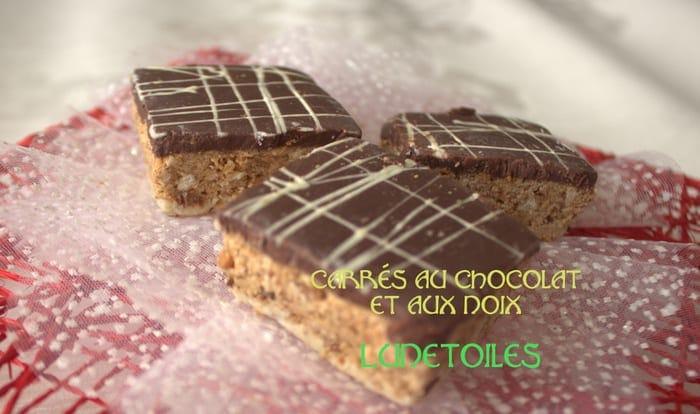 article carres au chocolat aux noix gateau marocain
