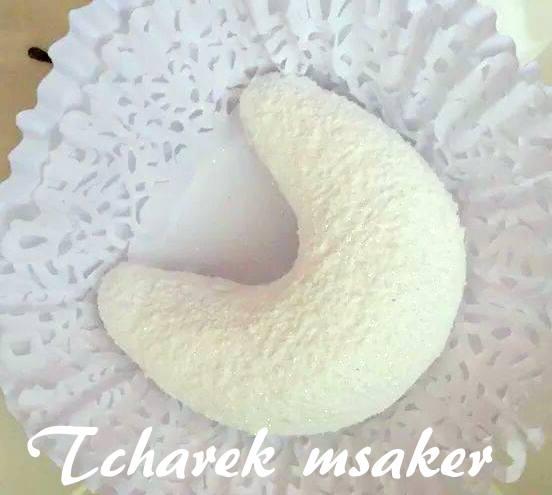 Gateau Algerien Corne De Gazelle: Tcharek Msaker Corne De Gazelle Enrobé De Sucre Glace