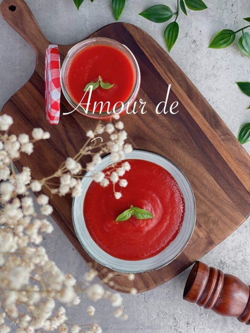 coulis de tomate simple et facile