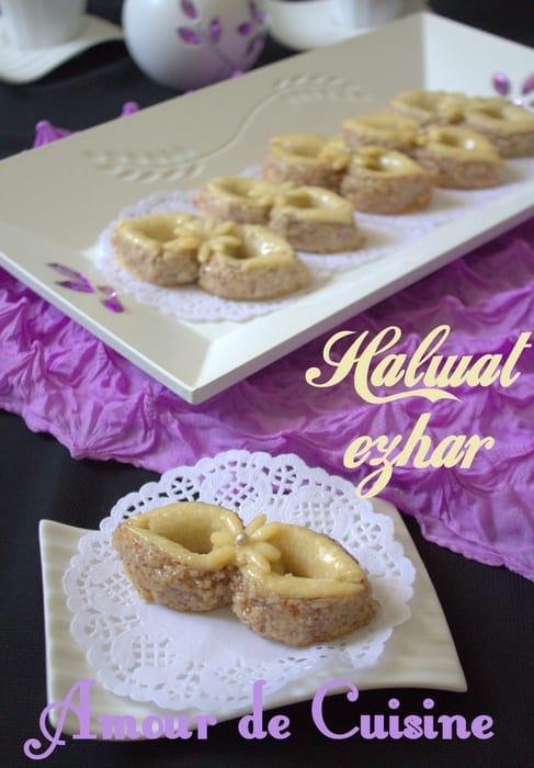 Halwat ezhar gateau algerien de la fete de l 39 aid amour for Amour de cuisine 2014