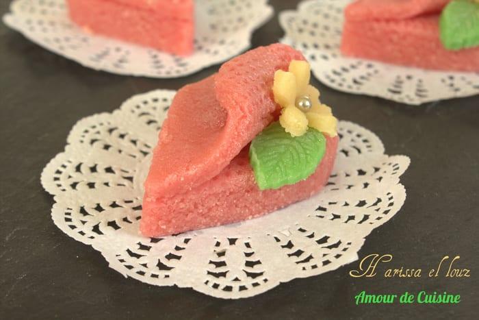 Harissa aux amandes ou harissat el louz amour de cuisine for Amour de cuisine 2014