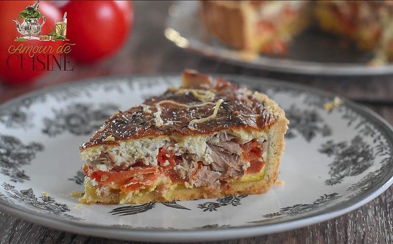 tarte au thon et tomates amour de cuisine. Black Bedroom Furniture Sets. Home Design Ideas