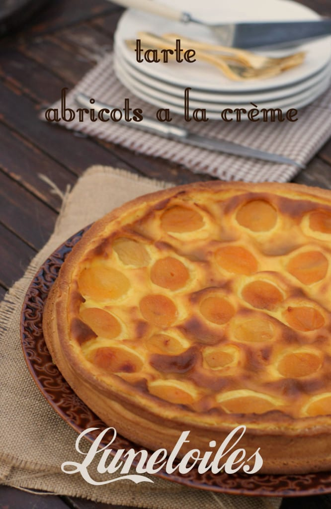 tarte abricots a la crème