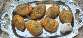 recette hasselback potatoes, pommes de terre rôtie a la suédoise
