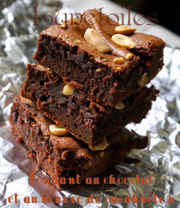 Fondant au chocolat et au beurre de cacahuètes