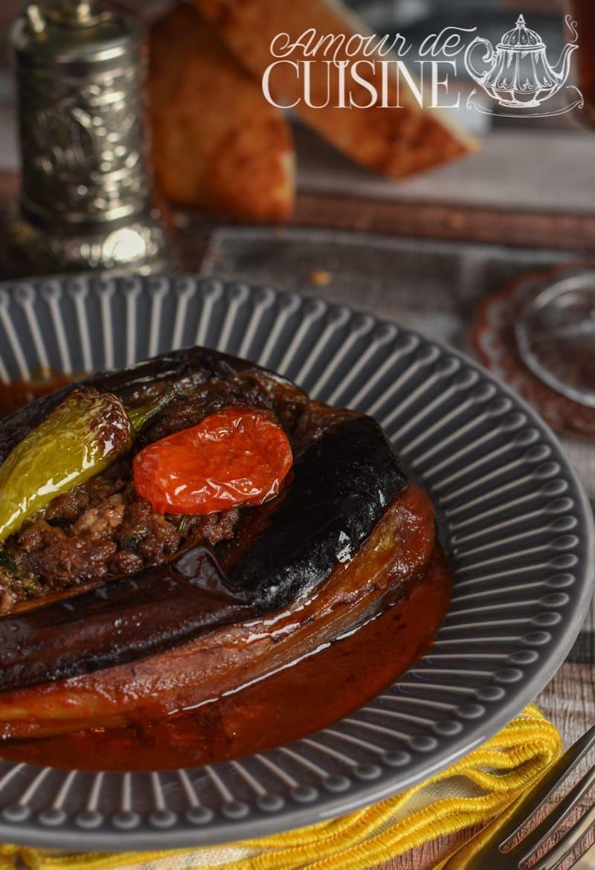 recette d'aubergine farcie au four